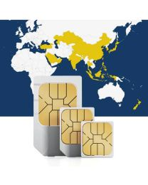SIM card for use in 18 Asian countries with fast mobile internet