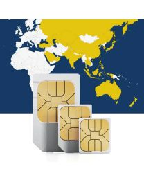 SIM card for use in 31 Asian countries with fast mobile internet