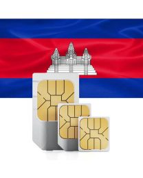 Cambodian flag data sim card for Combodia