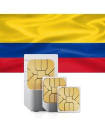 Colombian national flag, data sim card used in Colombia