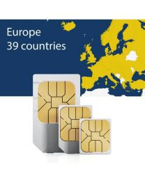 Sim card for thirty-nine European countries for fast mobile internet