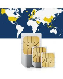 Global sim card for global use in 33 countries