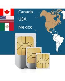 Sim card for use in USA Canada and Mexico