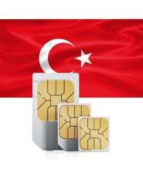 Turkish flag for the sim card for Turkey