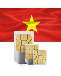 Vietnamese national flag, data sim card for use in Vietnam
