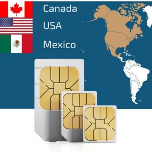 SIM Card for North America (Canada, USA & Mexico)